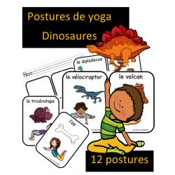 Postures de yoga - Dinosaures