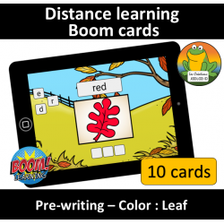 Pre-writing - Color - Leaf