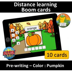 Pre-writing - Color - Pumpkin