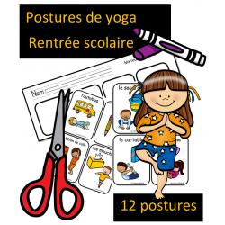 Postures de yoga - Rentrée scolaire