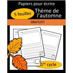 Papiers pour écrire - Automne