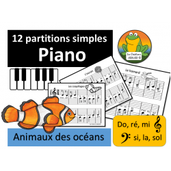 Piano - Partitions Océans