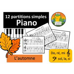Piano - Partitions d'automne