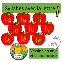 Cliparts - Syllabes avec l - Pommes
