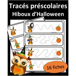 Tracés préscolaires - Hiboux d'Halloween