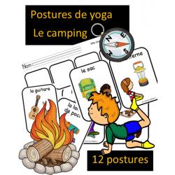 Postures de yoga - Le camping