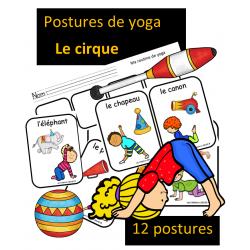 Postures de yoga - Le cirque