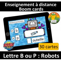 Lettre B ou P - Robots
