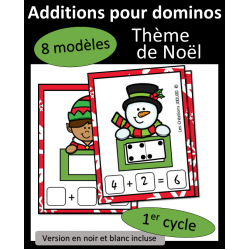 Additions avec dominos - Noel