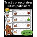 Tracés préscolaires - Lutins pâtissiers