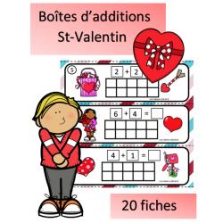 Boîtes pour additions - St-Valentin