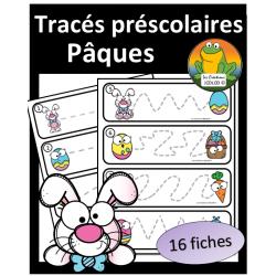Tracés préscolaires - Pâques