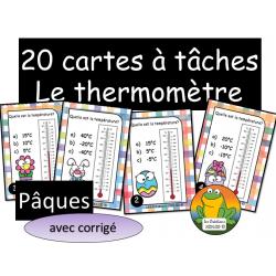 Cartes à tâches - Thermomètre - Pâques