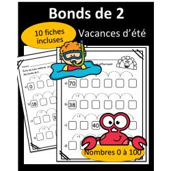 Bonds de 2 - 0 à 100 - Vacances d'été