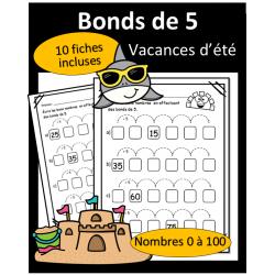 Bonds de 5 - 0 à 100 - Vacances d'été