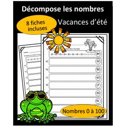 Décompose les nombres - 0 à 100 - Vacances
