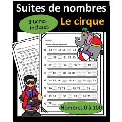 Suite de nombres - 0 à 100 - Cirque
