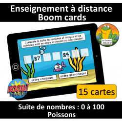 Suite de nombres - 0 à 100 - Poissons