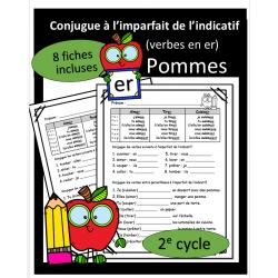 Conjugue - Verbes en er - Imparfait - Pommes