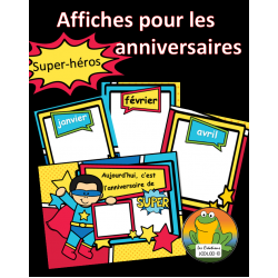 Affiches des anniversaires - Super-héros