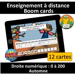 Droite numérique - 0 à 200 - Automne (BC)