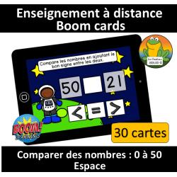 Comparer des nombres - 0 à 50 - Espace