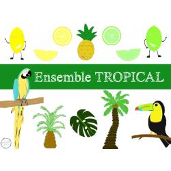 ensemble ClipArt tropical