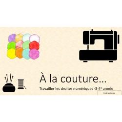 À la couture- Jeu interactif - 2e cycle