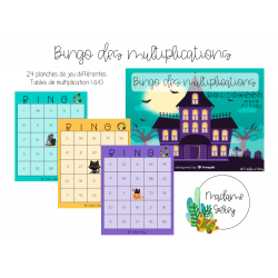 Bingo des multiplications - Halloween