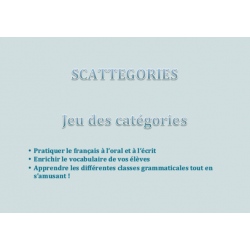 Jeu Scattegories - Grammaire 3D