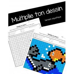 Multiplie ton dessin aquatique!