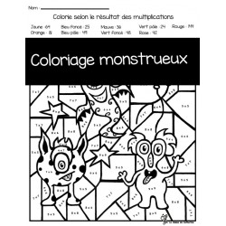 Coloriage monstrueux