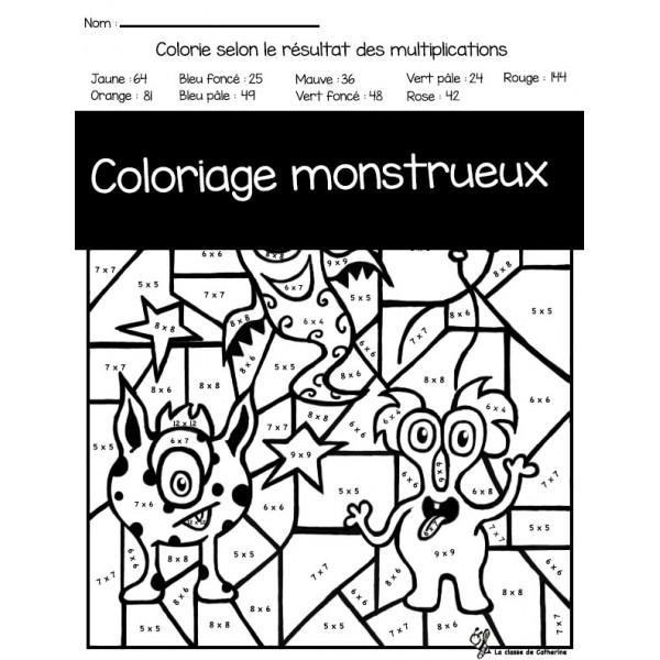 Coloriage monstrueux