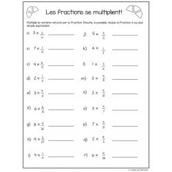Les fractions se multiplient