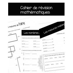 Cahier de révision en mathématiques - 3e cycle