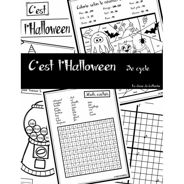 Passe-temps « C'est l'Halloween » 2e et 3e cycle