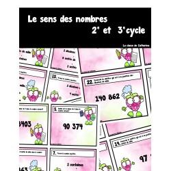 Cartes à tâches - Le sens du nombre