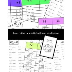 Mon cahier de multiplication & division