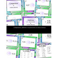 Comparaisons, + et - de nombres décimaux