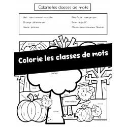 Colorie les classes de mots