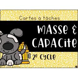 Cartes à tâches - Masse et capacité