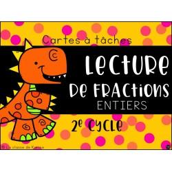 Cartes à tâches - Lecture de fractions