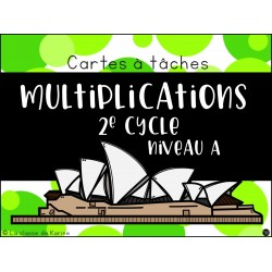Cartes à tâches - Multiplications Niveau A