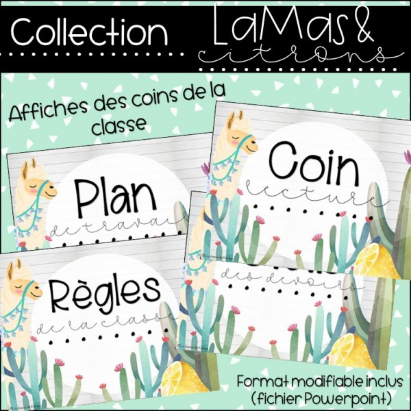 Lamas et citrons - Coins de la classe