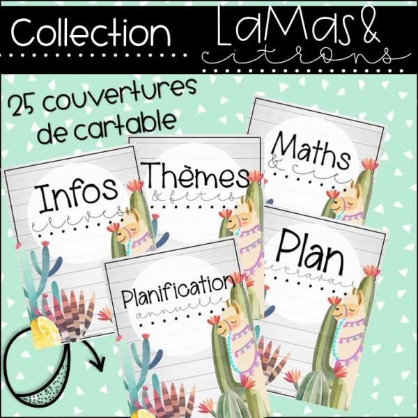 Lamas et citrons - 25 couvertures de cartable
