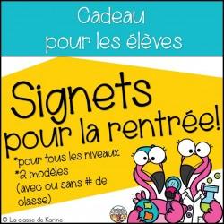 Signets pour la rentrée scolaire - Flamants!