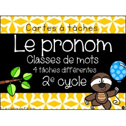 Cartes à tâches - 2e cycle - Le pronom