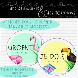 Collection Flamants et toucans - Plan de travail