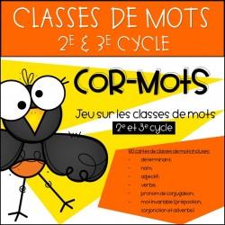 Cor-Mots - Jeu sur les classes de mots