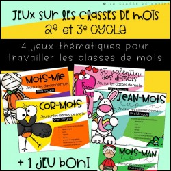 Ensemble - Jeux classes de mots